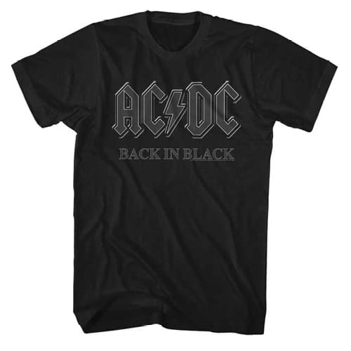 AC-DC Back In Black Tall Shirt