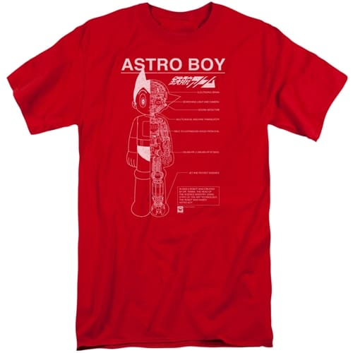 Astro Boy - Schematics Tall Shirts