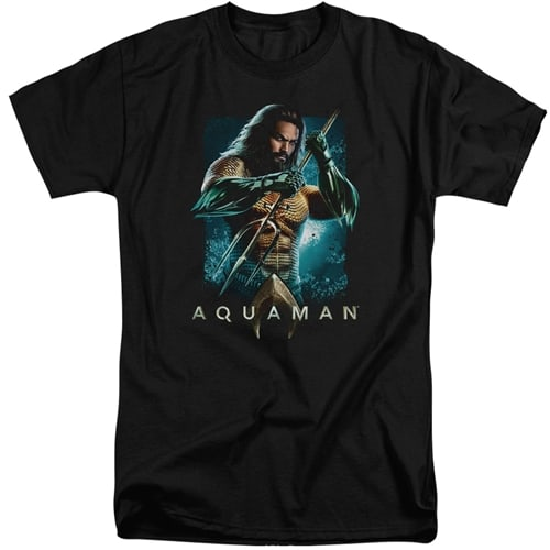 AQUAMAN - TRIDENT TALL SHIRTS
