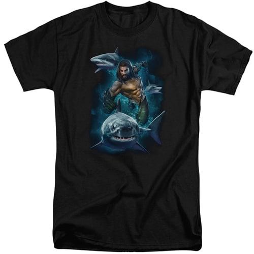 AQUAMAN - Swimming with Sharks Tall shirts