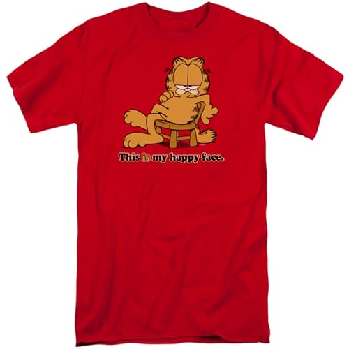 Garfield - Happy Face Tall Shirt