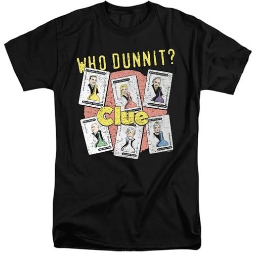 Clue Game Tall Shirt