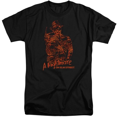 Nightmare On Elm Street tall shirts